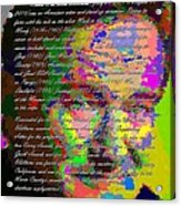 Robin Williams - Abstract With Text Acrylic Print