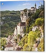 Rocamadour Midi-pyrenees France Acrylic Print by Colin and Linda McKie