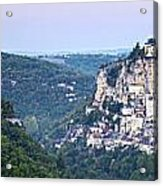 Rocamadour Midi Pyrenees France Panorama Acrylic Print by Colin and Linda McKie