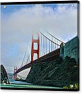 Rock And Golden Gate Acrylic Print