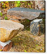 Rock Bench And Table Acrylic Print