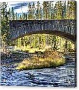 Rock Bridge Over Grasshopper Creek Acrylic Print