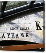 Rock Chalk Ku Acrylic Print