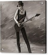 Rock Chick Acrylic Print