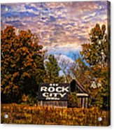 Rock City Barn Acrylic Print