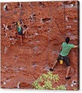 Rock Climbing 101 Acrylic Print