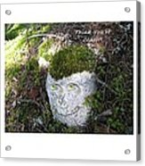 Rock Face Acrylic Print