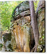 Rock Formation Wildcat Den State Park Acrylic Print
