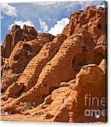 Rock Formations In The Valley Of Fire Acrylic Print by Jane Rix