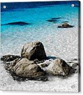 Rock Garden In Water Acrylic Print