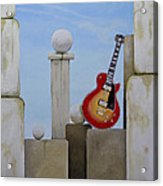 Rock Guitar Les Paul Custom Acrylic Print