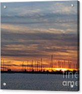 Rock Hall Sunset I Acrylic Print