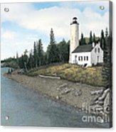 Rock Harbor Lighthouse Acrylic Print