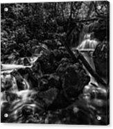 Rock Island Bw Acrylic Print