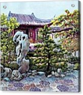 Rock Landscape Of The Dr. Sun Yat-sen Garden Acrylic Print