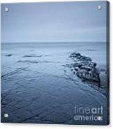 Rock Ledge At Kimmeridge Bay Acrylic Print