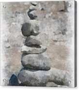 Rock Markers Photo Art 01 Acrylic Print