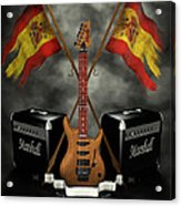 Rock N Roll Crest- Spain Acrylic Print by Frederico Borges