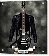 Rock N Roll Crest-the Guitarist Acrylic Print by Frederico Borges