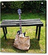 Rock N Roll Guitar In A Bag Acrylic Print