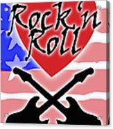 Rock N Roll Stars N Stripes Acrylic Print