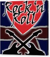 Rock N Roll Union Jack Acrylic Print