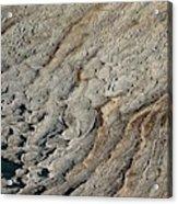 Rock Polygon Stripes Acrylic Print