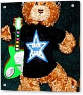 Rock Star Teddy Bear Acrylic Print