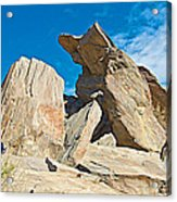 Rock Uplifts In Andreas Canyon In Indian Canyons-ca Acrylic Print
