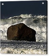 Rock V Wave I Acrylic Print by Tony Reddington