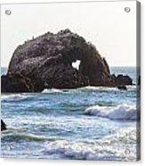Heart Rock Near San Francisco Ca Cliff House Acrylic Print