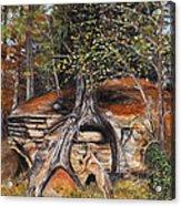 Rock Wolf Den Acrylic Print