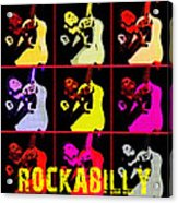 Rockabilly In Comic Style Acrylic Print