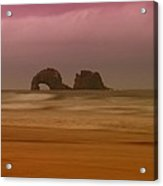 Rockaway Beach Oregon Coast Acrylic Print