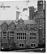 Rockefeller Hall - Bryn Mawr In Black And White Acrylic Print