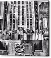 Rockefeller Center Black And White Acrylic Print