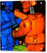 Rockem Sockem Robots - Color Sketch Style - Version 3 Acrylic Print