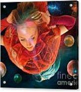 Rocket Girl Acrylic Print
