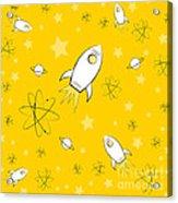 Rocket Science Yellow Acrylic Print