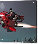 Rocket Scooter Acrylic Print