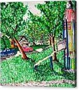 Rocket Slide Acrylic Print by Jame Hayes