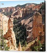 Rockformation At Bryce Canyon  Acrylic Print