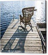 Rocking Chair On Dock Acrylic Print