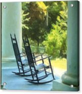 Rocking Chairs And Columns Acrylic Print