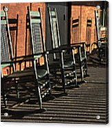 Rocking Chairs Acrylic Print