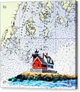 Rockland Breakwater Light Acrylic Print