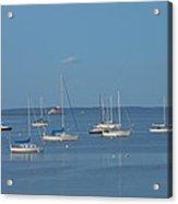 Rockland Breakwater Lighthouse After Dark Coast Of Maine Acrylic Print
