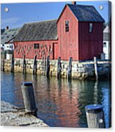 Rockport Fishing Village Acrylic Print