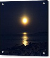 Rockport Moonrise Acrylic Print
