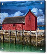 Rockports Motif Number 1 Painting Acrylic Print